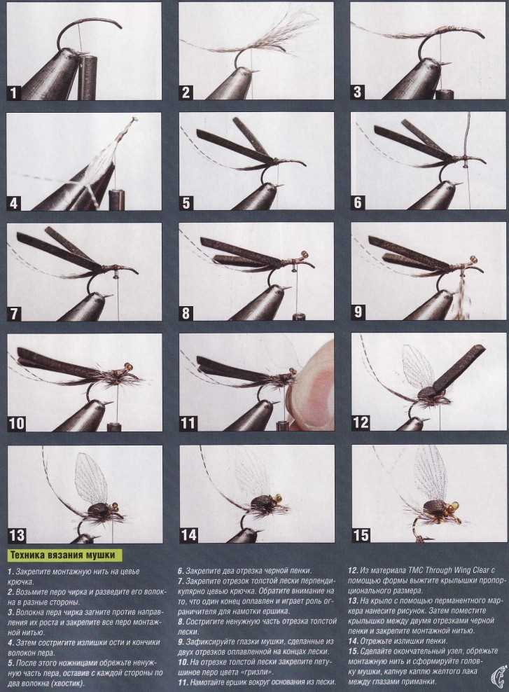 Как вязать мушку